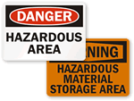 Hazardous Area Signs