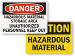 Hazardous Materials Signs