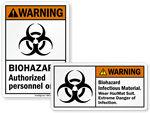 Biohazard HazMat Stickers