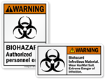 Biohazard HazMat Stickers