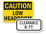 Headroom Clearance Signs