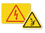 High Voltage Symbol Labels