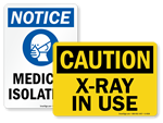 Hospital Safety Signs