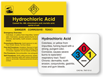 Hydrochloric Acid Labels