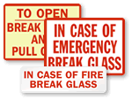 Break Glass In Emergency Labels