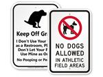 Keep Dog Off Grass Signs