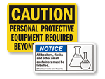 Lab Safety Signs