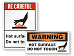 Hot Surface Signs