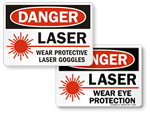 Laser Warning Signs