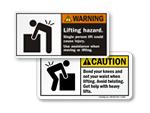 Lifting Hazard Labels
