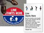 Line Starts Here Signs