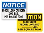 Load Capacity Signs