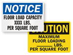 Load Capacity Signs