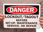 Lockout Reminder Signs