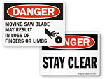 Machine Hazard Signs
