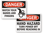OSHA Machine Hazard Signs