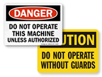 OSHA Machine Safety Signs