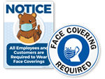 Face Masks Face Covering Required Signs
