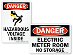 Meter Warning Signs and Labels
