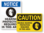 More Hearing Protection Signs