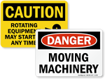Moving Machinery Signs