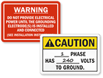 National Electric Code NFPA Signs