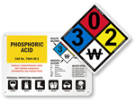 NFPA 704 Diamond Signs