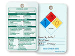 NFPA Tags with Guide on Back