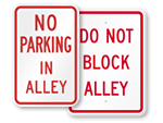 No Parking in Alley Signs