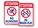 Portable pool rules sign