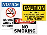 OSHA No Smoking Signs & Labels