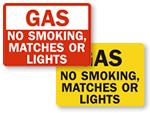No Smoking Near Gas Signs