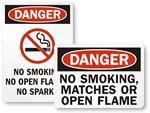 o Smoking, No Matches, No Flames