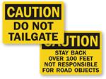 No Tailgating Signs