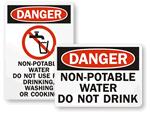Non-Potable Water Signs
