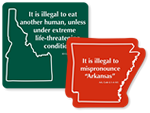 Novelty State Law Signs