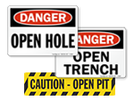 Open Pit Signs