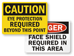 OSHA Eye Protection Signs