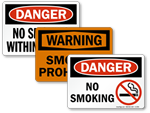OSHA No Smoking Signs