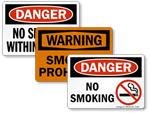 OSHA No Smoking Signs