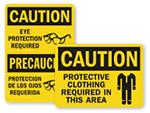 OSHA PPE Signs