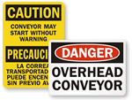 Overhead Conveyor Signs