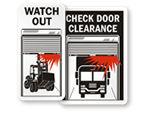 Overhead Door Safety Signs