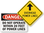 Overhead Hazard Signs