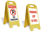 Parking Lot Standing Signs