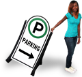 Portable Parking Lot Signs