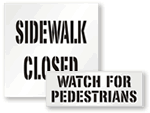 Pedestrian & Sidewalk Stencils