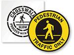 Pedestrian Floor Signs