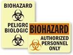 GlowSmart™ Photoluminescent Biohazard Sign