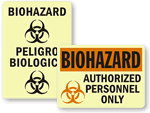GlowSmart™ Photoluminescent Biohazard Sign